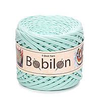 Трикотажная пряжа Bobilon Medium (7-9 мм) Mint Ментол