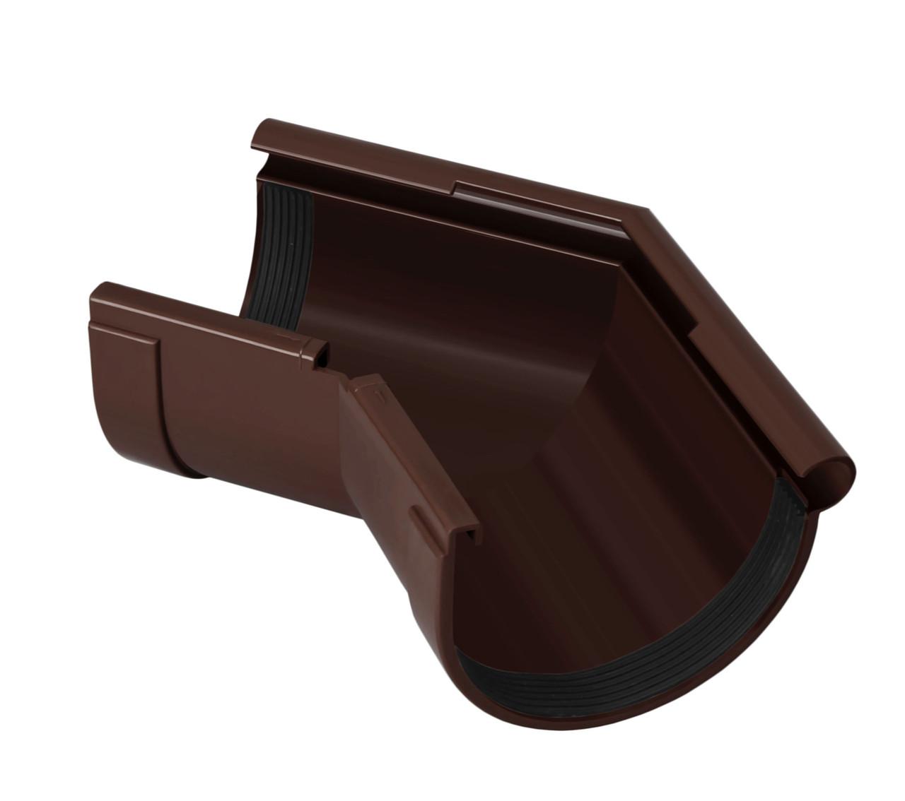 Угол желоба наружный коричневый 135° 130/100 RainWay