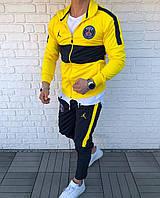 Спортивный костюм мужской желтый с черным Jordan PSG