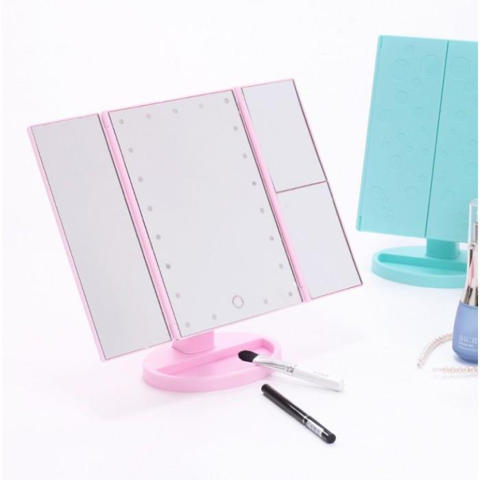 Зеркало косметическое складное с Led подсветкой Superstar Magnifying Mirror для макияжа