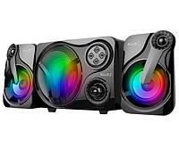🔝 Комп'ютерні LED колонки з сабвуфером для ноутбука, комп'ютера, Music D.J. SP 60, акустика для пк | 🎁%🚚