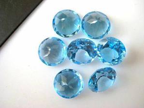 Натуральный топаз голубой 7 мм