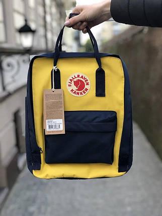 Рюкзак Fjallraven Kanken Жовто-синій, фото 2