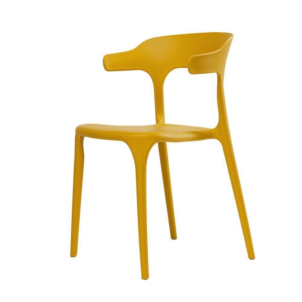 LUCKY (Лаккі) CONCEPTO стілець пластиковий жовтий каррі