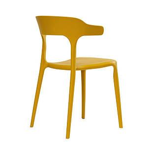 LUCKY (Лаккі) CONCEPTO стілець пластиковий жовтий каррі, фото 2