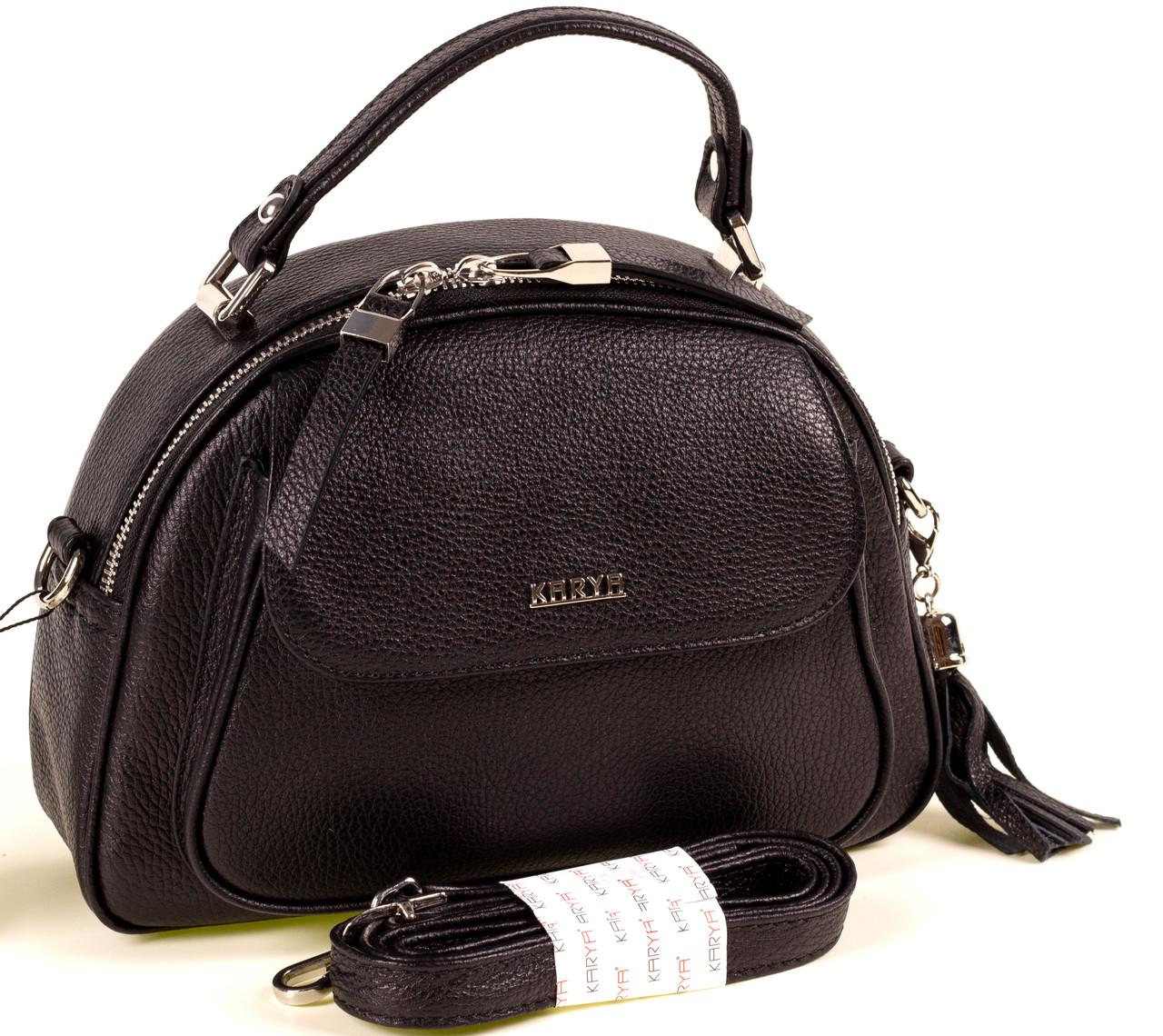 Женская сумка Karya 2174-45 кожаная черная