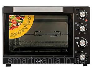Духовка електрична піч Rotex ROT650-B конвекція, піца, вертел, підсвічування 60L 2000W