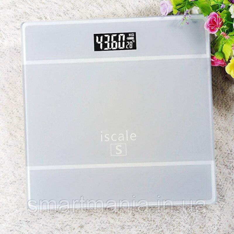 Ваги підлогові електронні Iscale S до 180 кг з датчиком температури