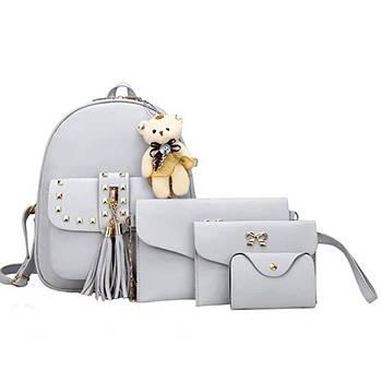 Женская сумка 4 в 1 Teddy Backpack Bag Белая