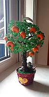 Оригинальный подарок из бисера мандариновое дерево