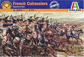 Французские кирасиры, наполеоновские войны. Набор пластиковых фигур в масштабе 1/72. ITALERI 6084