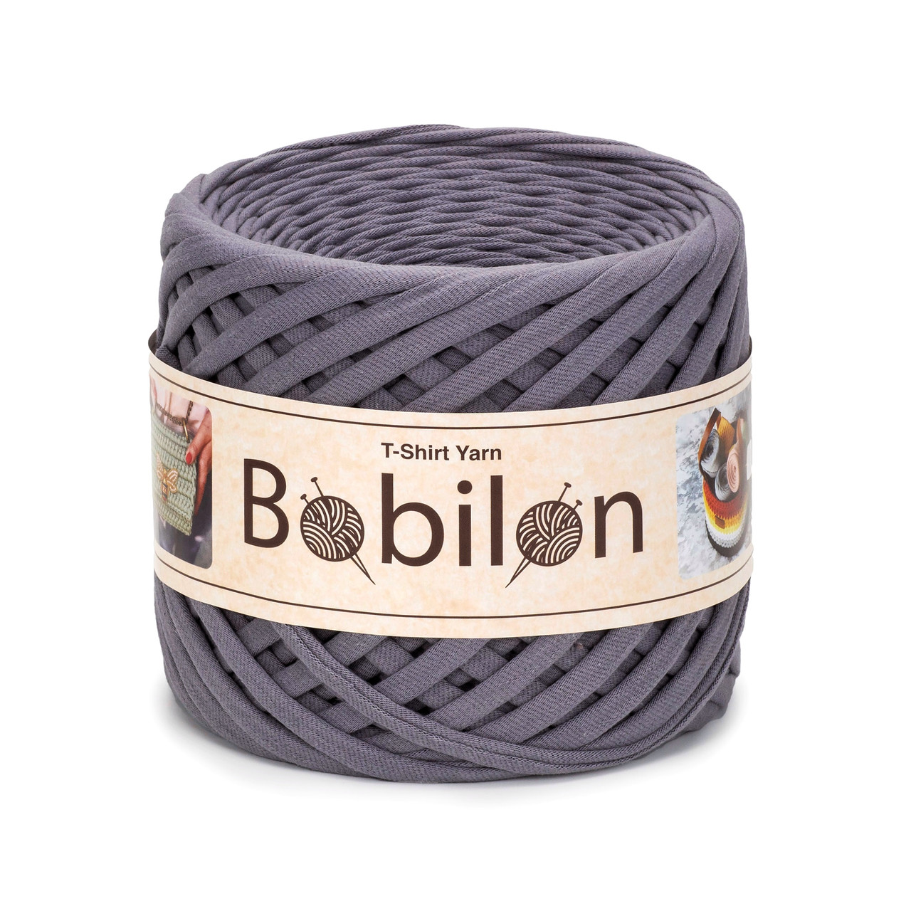 Пряжа трикотажна Бобилон Micro (3-5мм). Сіра мишка