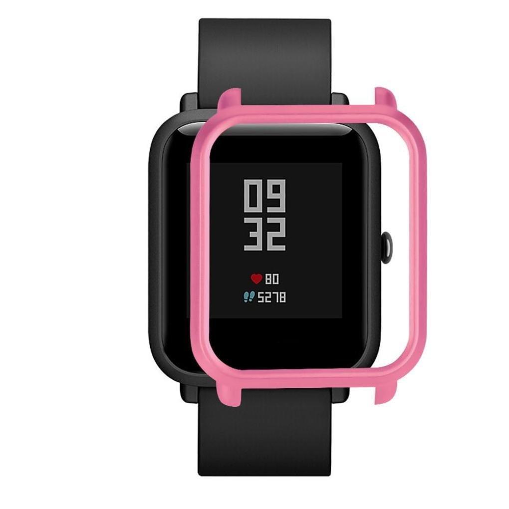 Накладка бампер для часов Xiaomi Amazfit Bip Розовая (1010511)