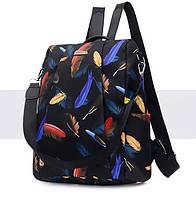 Женский рюкзак с принтом повседневный водоотталкивающий сумка антивор, фото 1