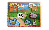 Деревянная игрушка Рамка-вкладыш MD 2195 (Домашний скот)