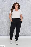 Тонкие женские спортивные штаны с манжетами размеры 46-54 арт 0620