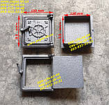 Задвижка печная металлическая большая (255х270 мм) печи, дымоход, мангал, барбекю, фото 4