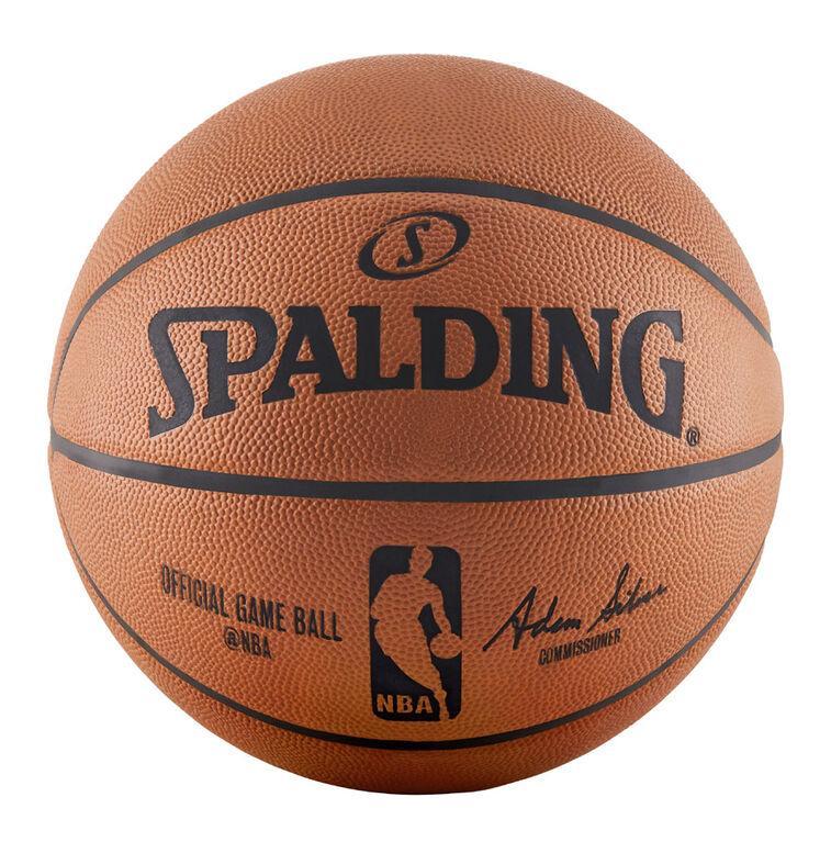 Мяч баскетбольный Spalding NBA Official Game Ball размер 7 натуральная кожа (795807504)