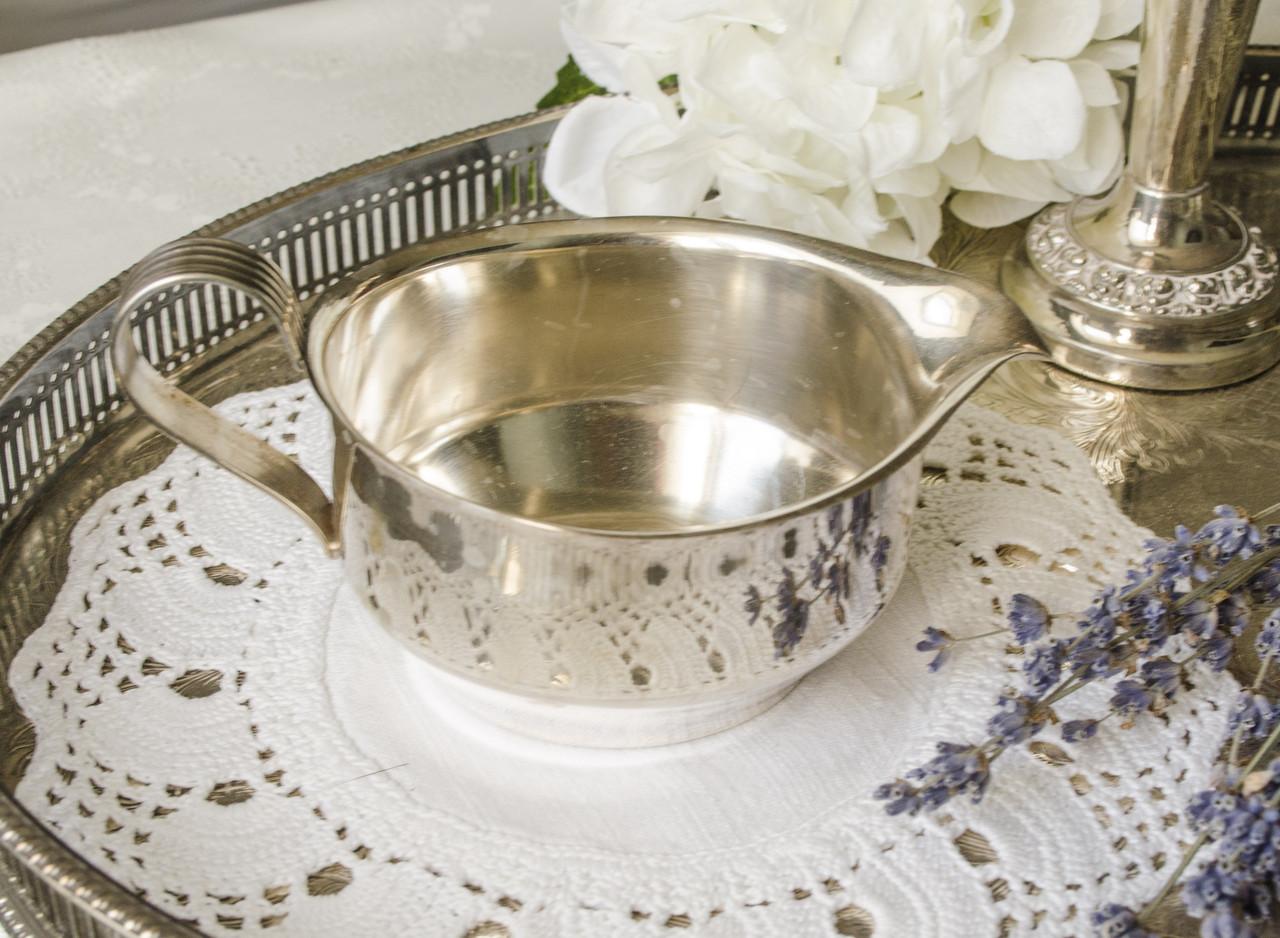 Посеребренный соусник, серебрение, серебрение, мельхиор, Англия, The cutlers company