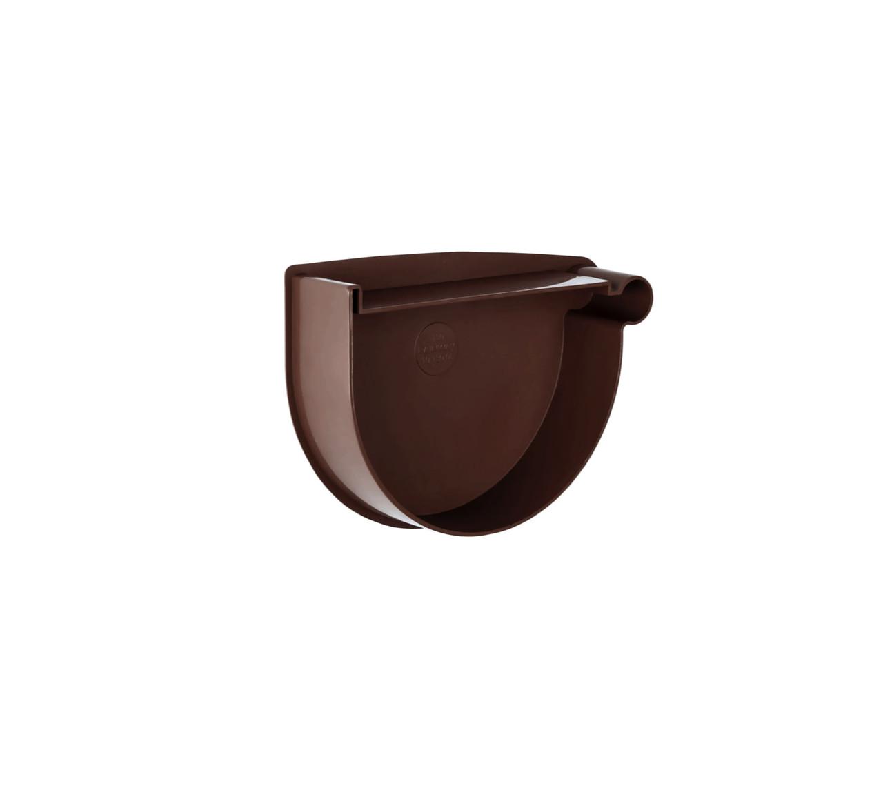 Заглушка  воронки правая коричневая 130/100 RainWay