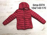 Куртка двухсторонняя для девочек оптом, Glo-story, 134/140-170 см, № GMA-3374