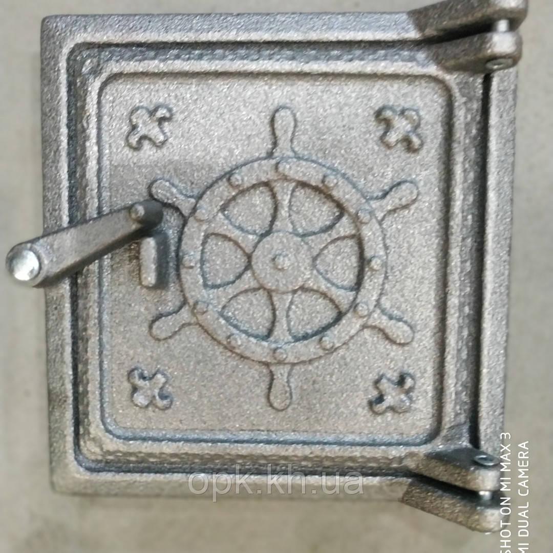 """Сажатруска чугунная дверка (Т2) 130""""135 мм ( вес -2 кг) Нептун"""