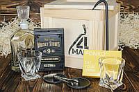 """Ящик 4MAN """"Любитель виски"""" № 1. Набор камней для виски 9 шт. Подарок на день рождения мужу. Для виски набор"""