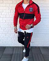 Спортивный костюм мужской красный Jordan PSG