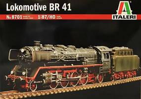 Немецкий паровоз BR 41. Сборная модель в масштабе 1/87. ITALERI 8701