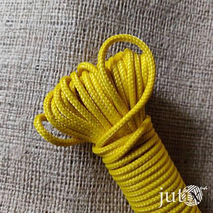 Шнур полипропиленовый (плетеный) 3 мм - 20 метров Желтый, фото 2