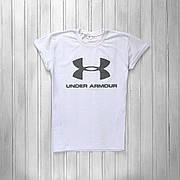 Мужская спортивная футболка в стиле Under Armour White Белая
