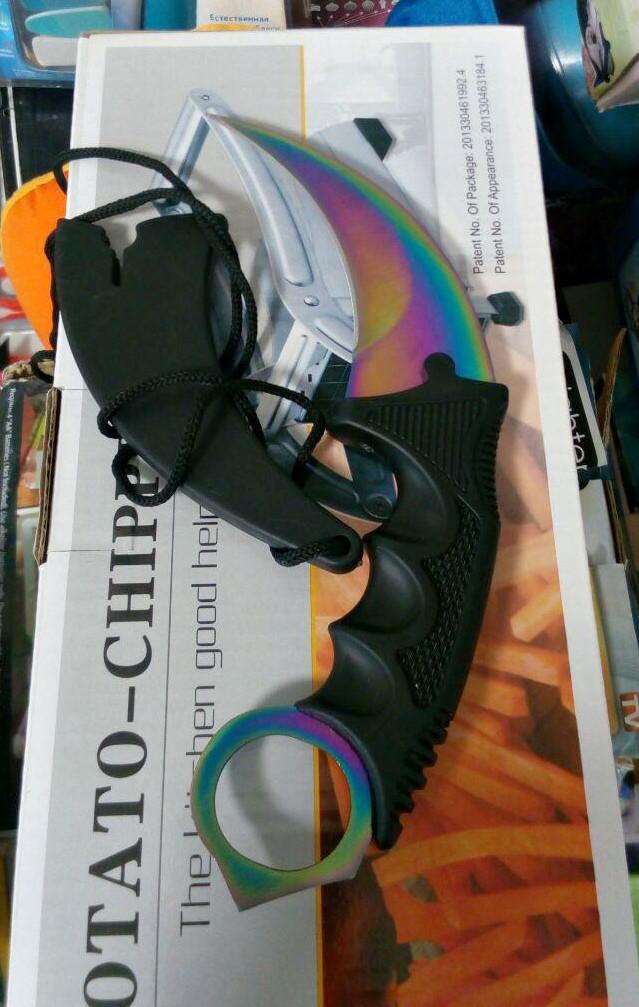 Нож керамбит цветной, нож CS GO Karambit, тактический нож коготь