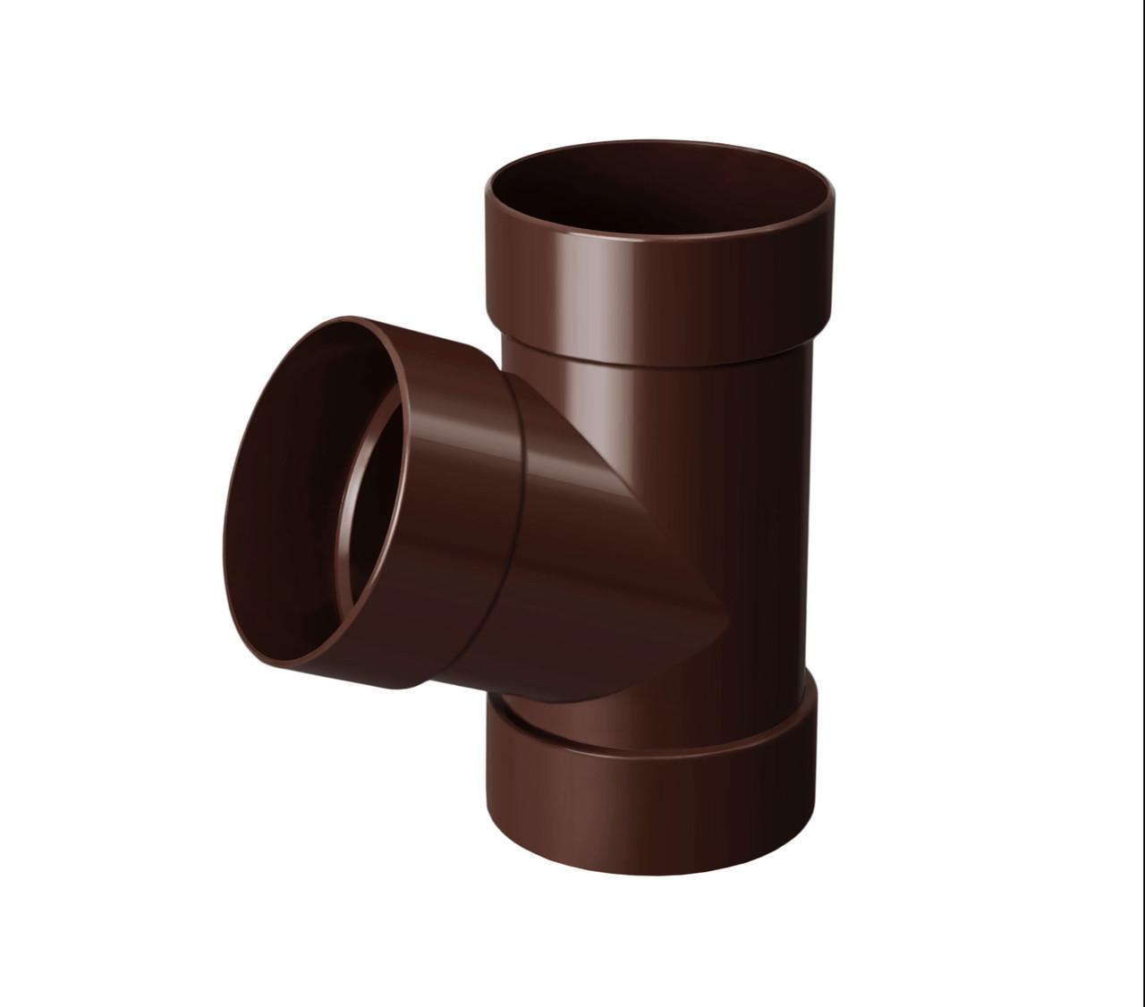 Тройник коричневый 67° 130/100 RainWay