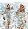 Сукня жіноча на запах біле в дрібний ментоловий квіточка ТК/-31243