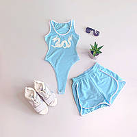 Женский летний спортивный костюм с шортами и боди без рукава tez6605992Е, фото 1