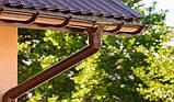 Хомут для трубы 110 мм металлический коричневый 130/100 RainWay, фото 5