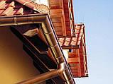 Хомут для трубы 110 мм металлический коричневый 130/100 RainWay, фото 6