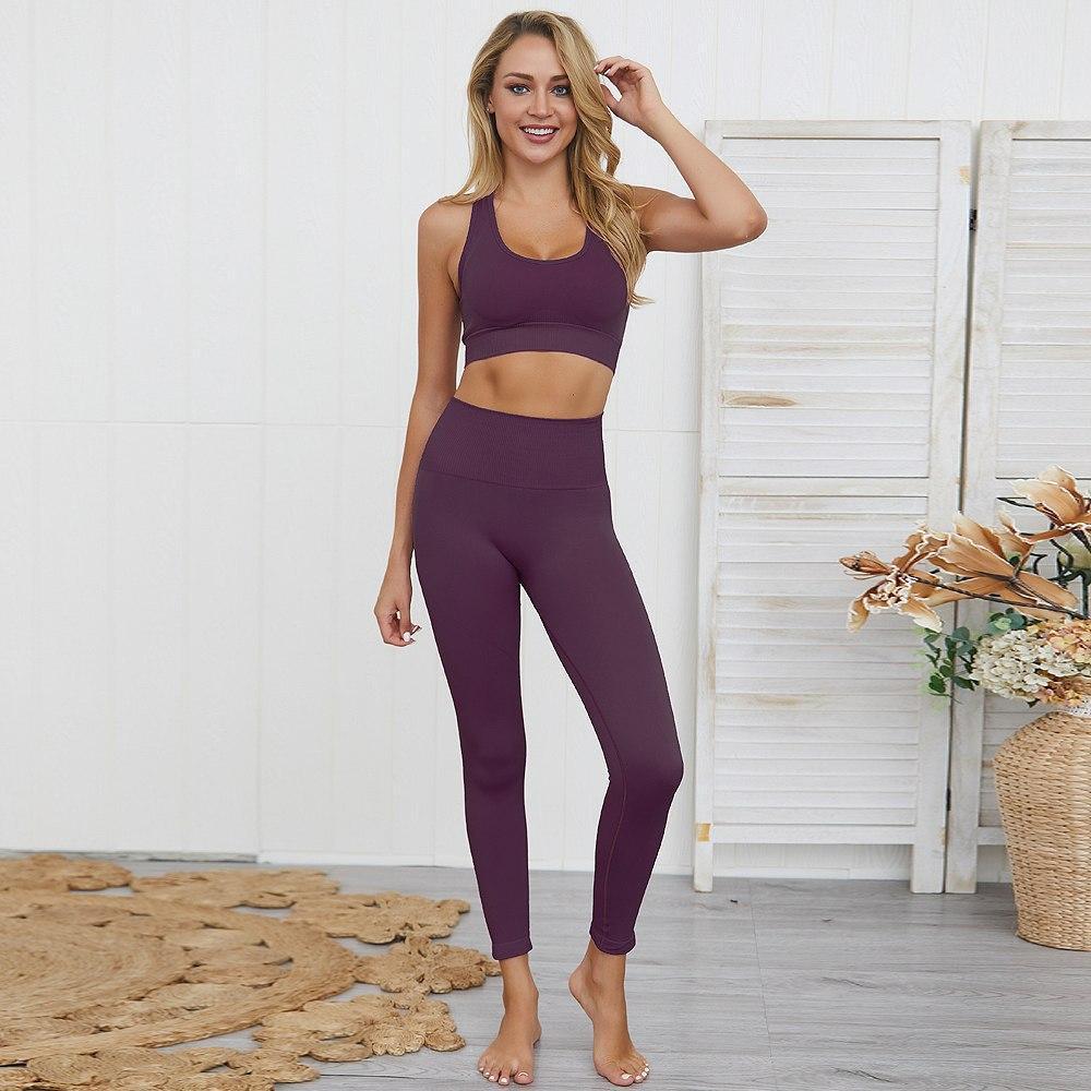 Женский комплект для фитнеса, йоги, спорта