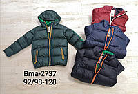 Куртка утепленная для мальчиков оптом, Glo-story, 92/98-128 см,  № BMA-2737