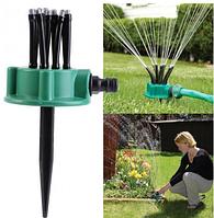 Спринклерный распылитель для газона ороситель огорода 360 градусов полива multifunctional Water Sprinklers Max