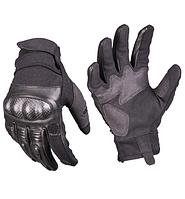 Тактичні полнопалые рукавички Mil-tec із захистом чорні 12504402