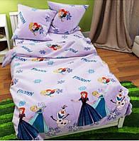 Комплект детского постельного белья Холодное сердце, Бязь Люкс,полуторный, фото 1