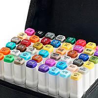 40 цветов! Набор двусторонних маркеров Touch для рисования и скетчинга на спиртовой основе  40 штук