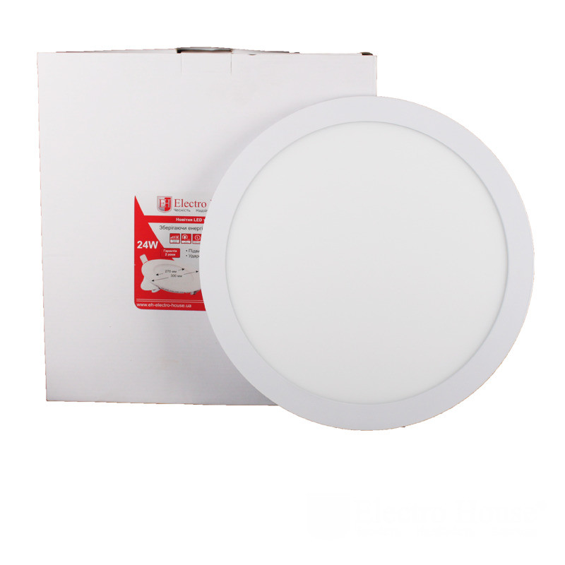 ElectroHouse LED панель кругла 24W 4100К 2160Lm Ø300мм