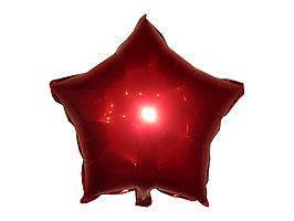 Фольгированный воздушный шар Звезда Красная  60 см Китай