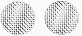 Сетка защитная фильтр для наушников и гарнитур 4.0 мм стальная, цвет серебристый, комплект 2 шт.