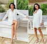Р 42-48 Сукня - сорочка білого кольору 21977