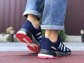 Чоловічі літні кросівки Adidas Marathon TR 26,сітка,темно сині, фото 3
