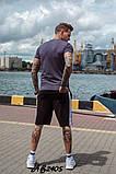 Костюм мужской футболка и шорты летний костюм adidas размеры:48, 50, 52, 54, фото 4