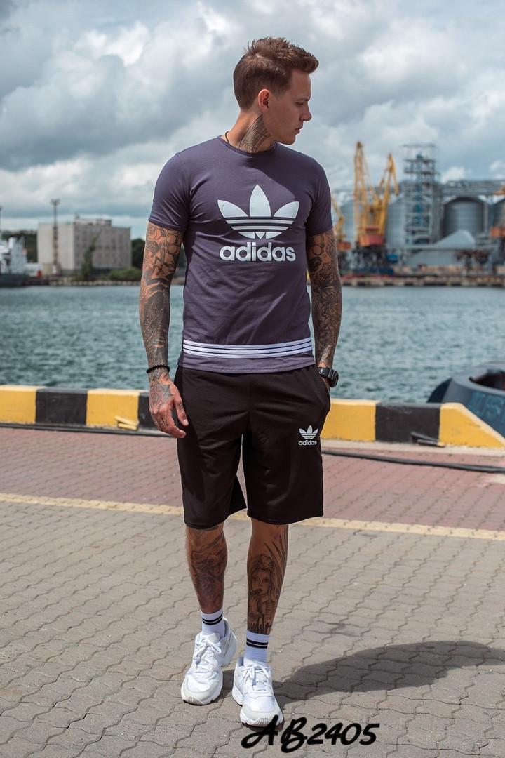 Костюм мужской футболка и шорты летний костюм adidas размеры:48, 50, 52, 54